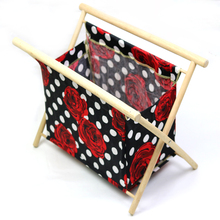 Foldable Knitting Stand High Quality Beech Frame pvc Pockets Inside Hold Knitting Needles Crochet Hooks Magazines Knitting Yarn