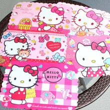2017 hello kitty cat PP Placemat kid dining table mat 1 pc Kitchen Dinning Bowl pad mat coaster Cup Glass Beverage Holder Pad