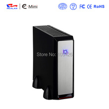 Realan 3019 SECC 0.6mm Black ITX Mini Tower Desktop Computer Case With 120W Power Supply(China)