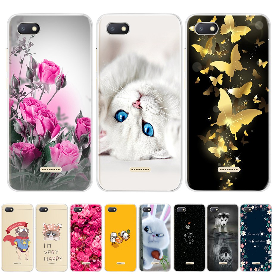 "for Xiaomi Redmi 6A case silicone cover 5.45"" TPU Cartoon case on for Xiaomi redmi 6a redmi6a coque fundas phone bumper housing(China)"