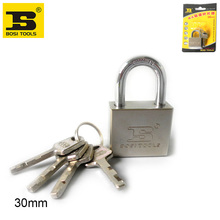 BOSI 30mm brass padlock master lock with 4pc keys