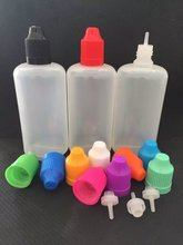 100ML PE Dropper Bottles With Colorful Caps and Long fine tips Essential Oil Eye Drops Bottles For E cig liquid, 50pcs/lot(China)