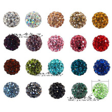 100pcs 10mm Shamballa Beads Crystal Disco Ball Beads Shambhala Spacer Beads,Shamballa bracelet Crystal Clay Beads 32 Colors(China)