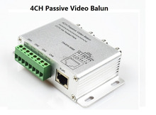 4CH Passive Video Balun BNC CCTV Transceiver Receiver Cat5 RJ45 Active Adapter(China)