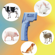 Non-Contact Digital Laser Temperature Gun IR Infrared Thermometer Temperature Laser Gun Device for Animal Big Pets(China)