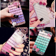 3D crystal bling Case For iphone 7 7plus 6 6plus 5G 5S 5C SE Diamond rhinestone back Cover cases fashion shell fundas capa(China)