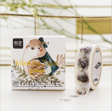 Miss Time Bird Print Washi Tape Beautiful Patterned Adhesive Tape Paper Sticky DIY Papeleria Craft Scrapbooking