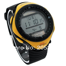 High Quality Yellow Silicone Strap Men Solar Battery Dual Powered Watch Water Resistant Digital Sports Wristwatch K8Y