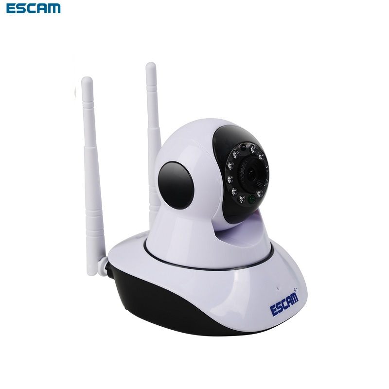 ESCAM HD WiFi IP Camera Wireless ONVIF Dual Antenna Ir Cam 720P H.264 Pan Tilt P2P Indoor Cctv Security Alarm Video Monitor <br>