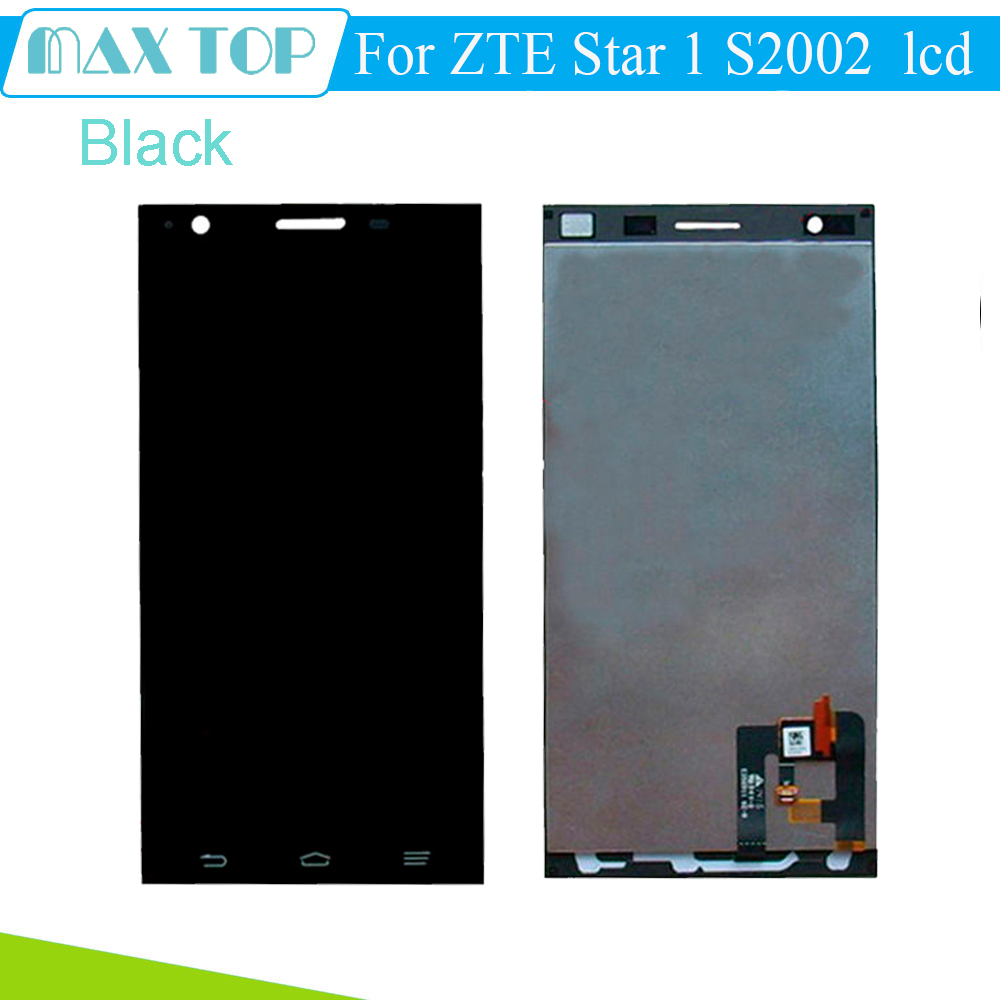 Black For ZTE Star 1 S2002  LCD Display Touch Screen Digitizer Glass Sensor lens  Assembly Free Shipping<br><br>Aliexpress