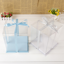 25.5*25.5*24.5cm 8 inch 5 count Clear Plastic Bakery packaging storage transparent Cake Food container Boxes(China)