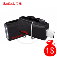 SanDisk USB Flash Drive 128GB 64GB 32GB 16GB 8GB 256gb Memory Stick Pen Drives Pendrive Flashdisk U Disk with MicroUSB TypeC USB(China)