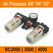 "BC2000 BC3000 BC4000 Size 1/4"" 1/2"" 3/8"" Air Filter Combination Air Pressure Filter Regulator Lubricator BC Series Three-point"