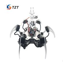 20DOF Aluminium Hexapod Robotic Spider Six Legs Robot Frame Kit Compatible with Arduino Silver(China)