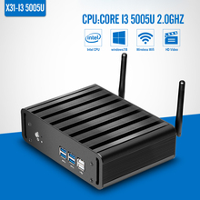 laptop computer Core i3 5005U 2GHz Barebone Fanless Mini PC desktop computer Windows 7/8/10/Linux gaming computer