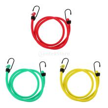 8mm x 1.2 Meters Heavy Duty Bungee Cords Metal Hooks Elastic Strap Rope Car Tie Down Luggage Bike(China)