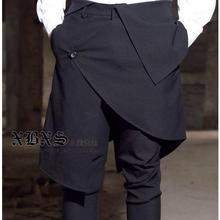 Free shipping Autumn and winter large size men's casual Slim men stage Korean version of harem hairstylist skirt pants  / M-XXL