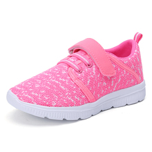 Mangobox Hot Sale Kids Athletic Shoes Size 26-37 Boys Girl Running Shoes Mesh Kids Footwear Blue Pink Kids Trainers Black