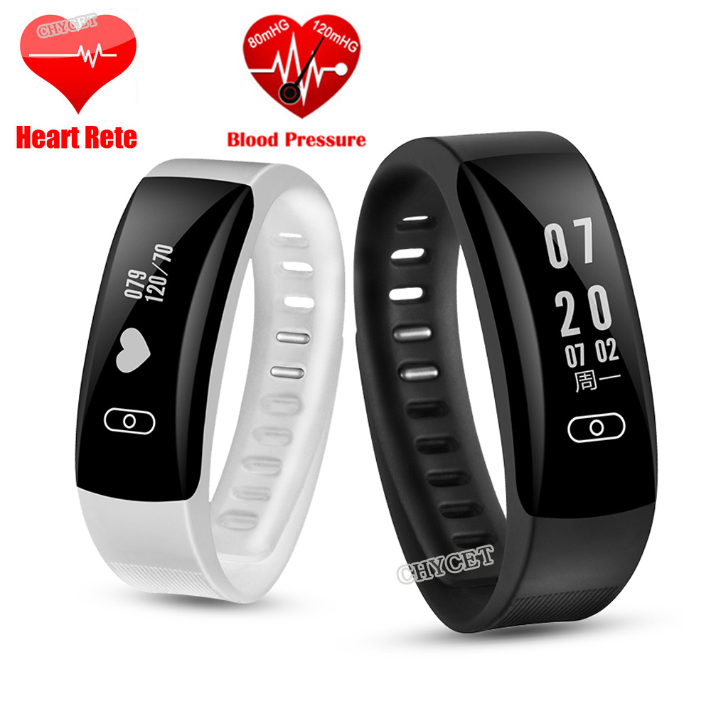 Chycet A86 Smart Wristband Heart Rate Monitor Blood Pressure Silicone Strap Mi Band 2 Oled Motif Army Camo Mix K8 Bracelet Wristb