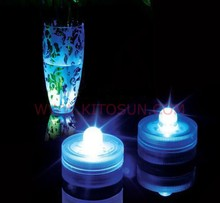 12pcs/set Underwater submersible floralytes floral tea light candle RGB flash color-change wedding party decoration lamps