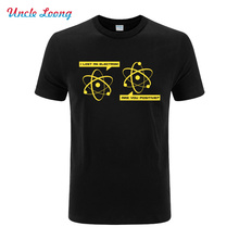 Big Bang Theory I Lost an Electron Are You Positive printing funny T-Shirt streetwear fashion casual Men short sleeve tops tee