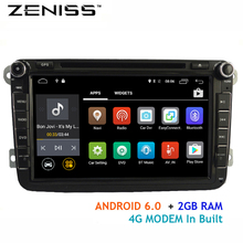 Free shipping Android6.0 2GB car dvd for VW Golf Polo Passat Tiguan 4G LTE modem forskoda octavia car radio for passat b5 VW66S