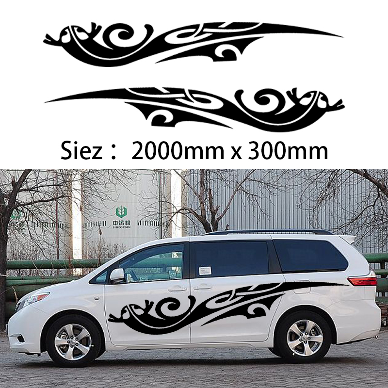 2x 2m Caravan Motorhome Camper Van Vinyl Graphics Stickers Decals Vito Transit one for each side<br>