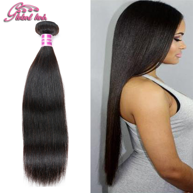 brazilian virgin hair single bundles Weaves  Brazilian Virgin Hair Straight 1 bundle deals unprocessed Human Hair Extensions <br><br>Aliexpress