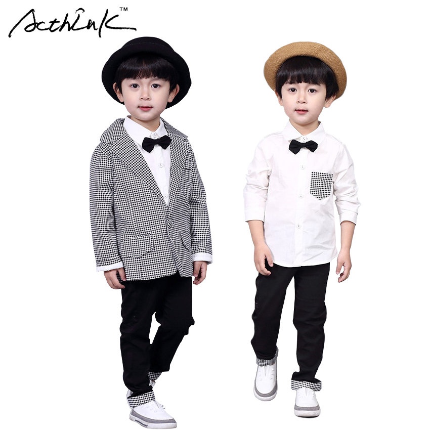 ActhInK Gentle Boys 3PCS Formal Houndstooth Suit with Bowtie Brand Kids Preppy Style Casual Suit Flower Boys Wedding Suit, MC183<br><br>Aliexpress
