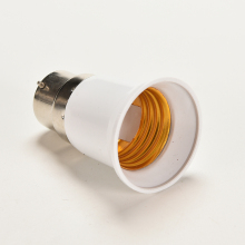 B22 to E27 Base LED Light Lamp Bulb Fireproof Holder Adapter Converter Change Socket(China)