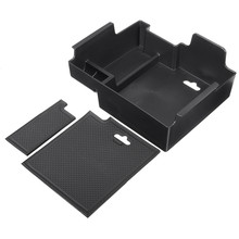 Car Armrest Storage Box Organizer Holder For Ford Explorer 2011-2014 w/Mat Glove Box Interior Accessories Stowing Tidying(China)