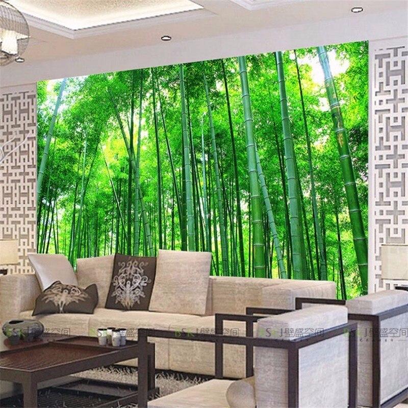 Custom 3d stereoscopic wallpaper sofa TV background wallpaper TV wall drawing bamboo Lin Fengjing large custom papel de parede<br><br>Aliexpress