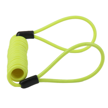 Multi-functional Safety Lanyard Spring Coil Wire Rope Disc Brake Lock Reminder Cable Green Outdoor Camping Hiking Travel Kits