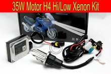 Free shipping 35W HID kit for Motor/Motorcycle Bike H4 Bi-Xenon Kit Hi/Low Xenon Bulb top quality H4 Kit with slim ballast