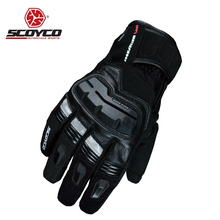 Motorcycle Gloves Screen Touch Leather Men Winter Warm Man Waterproof Motocross Glove Racing Cycling Motorbike Guantes Luvas New(China)