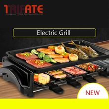 1200W/1500W large power double layer smokeless electric grill electric raclette grill bbq grill