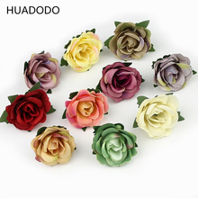HUADODO 3cm Mini Rose Flower Head Artificial Flowers for Wedding Decoration Ball Craft Fake Flowers 30pieces/lot(China)