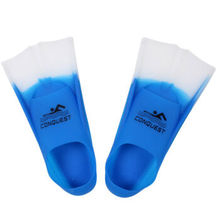 Bo Road fin swimming diving short fins snorkeling portable equipment flipper frog shoes blue and white L (39-41 code)