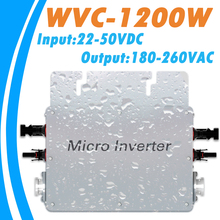 Waterproof MPPT 1200W Grid Tie Micro Inverter  22V-50VDC Input 180V-260VAC Output  with Communication Function for 36V PV System