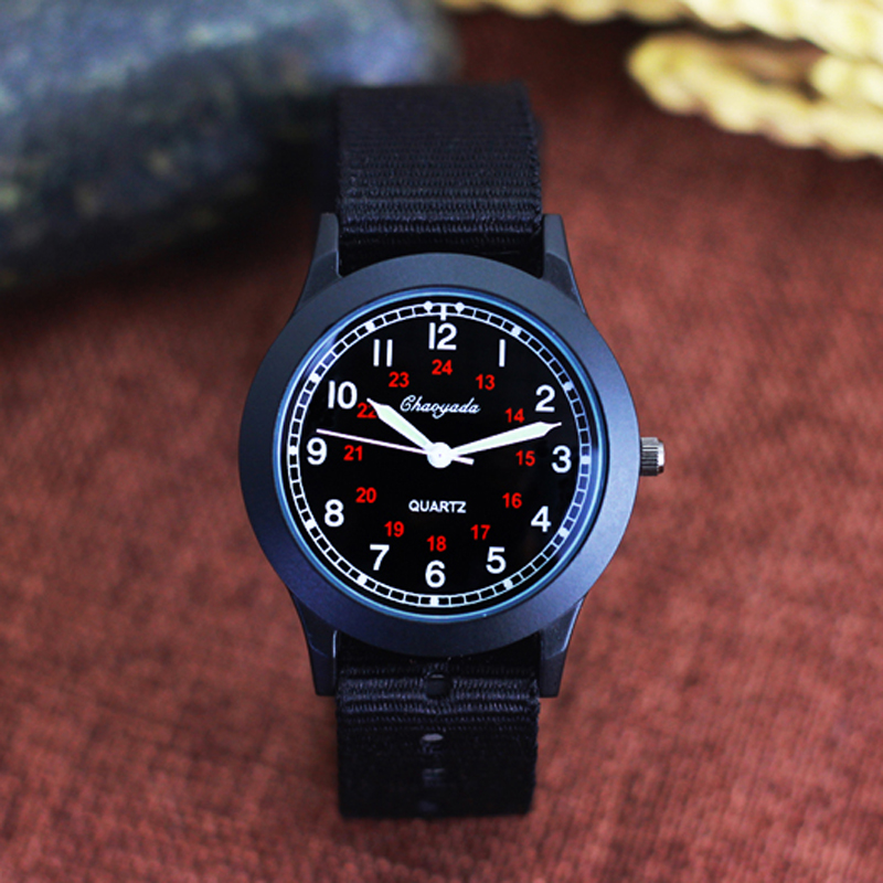 Gift-Clock Quartz-Watch Girls Sports Middle-Boys Child Hands Nylon Outdoor Casual Luminous title=