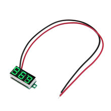 "New 0.36"" DC 3.5-30V Super Mini Digital Green LED Car Voltmeter Voltage Volt Panel Meter battery monitor hot selling(China)"