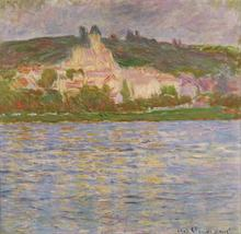 Claude Monet Free Shipping Printed Painting On Canvas Foot of the hill by the lake house Living Room Home Decor for Bedrooms(China)