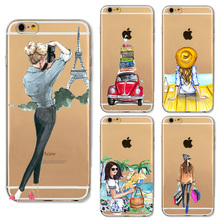 Summer Outing Travel Relax Beach Silicone Phone Cases For Samsung Galaxy J1 J3 J7 A5 2016 Note 2 Note 3 Note 4 Note 5 iphone 5C