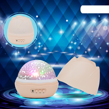 Leedome Novelty Night Light Children Baby Sleep Romantic Light Projector Lamp Rotating Flashing Starry Star Moon Sky Lampada Led(China)