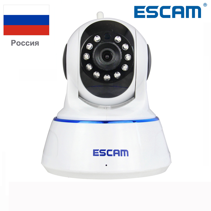 Escam QF002 Indoor Network WIFI IP Camera Infrared 720P Support IR-Cut Smartphone H.264 Pan/Tilt PT Wireless MAX 32G TF Card<br>