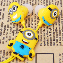Christmas gift cartoon headphones kids earphones 3.5mm wired for mobile phone mp3 music