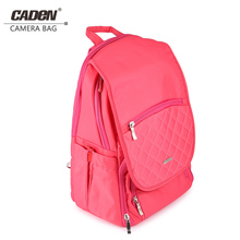 CADeN Pink Camera Shoulder Bag Video Digital DSLR Photo Backpack Rose Red for Canon Nikon Sony Pentax Women Camera backpack(China)