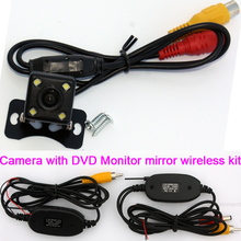 car RearView Reverse back up parking camera 2.4G Wireless RCA Video Transmitter Kit LED Lamp for Vehicle GPS Moniter DVD Player