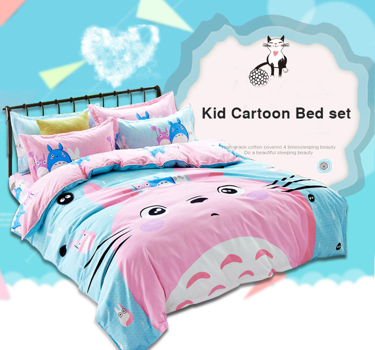 Lõbusate piltidega voodipesukomplektid