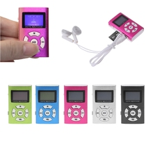 USB Mini MP3 Player LCD Screen Support 32GB Micro SD TF Card Slick stylish design Sport Compact With Earphone Gift(China)